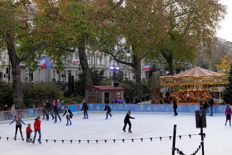 Ice rink at Natural History Museum Kensington London