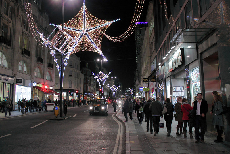 Oxford Street London Christmas 2011