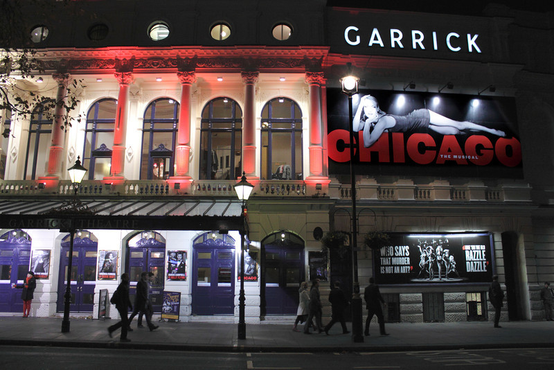 Chicago showing at the Garrick Theatre London November 2011