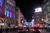 Coventry Street off Leicester Square at night London November 2011