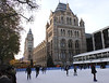 Ice rink at Natural History Museum Kensington London
