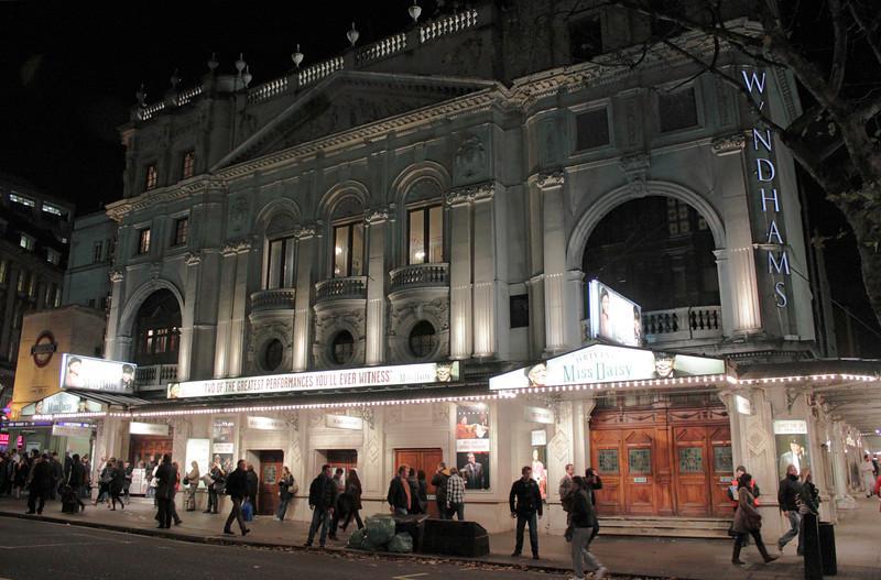 Wyndhams Theatre Charing Cross Road London at night