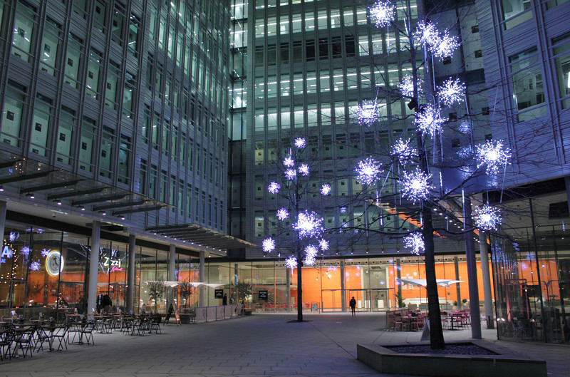 Christmas decorations at Central St Giles Piazza London 2011