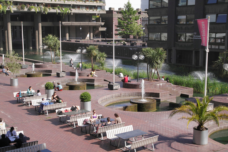Lakeside terrace at the Barbican Arts Centre London