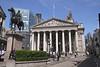 The Royal Exchange and Duke of Wellington statue London