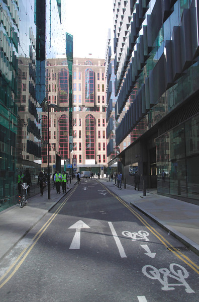 Moor Lane in the City of London