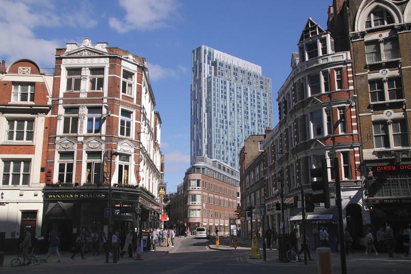 Nido student accomodation block view from Bishopsgate London