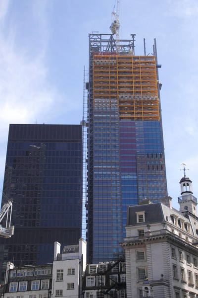 Cheesegrater Building under construction London June 2013