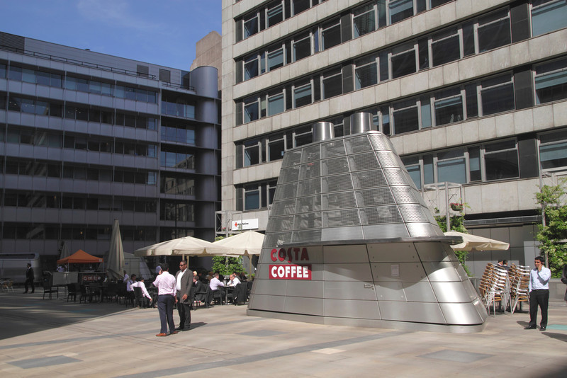 Costa Coffee shop Ropemaker Place in the City of London