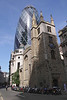 Church of St Helen's Bishopsgate and Swiss Re Tower London