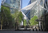 Base of Broadgate Tower in the City of London