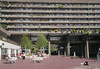 Cafe and apartments at Barbican Centre London