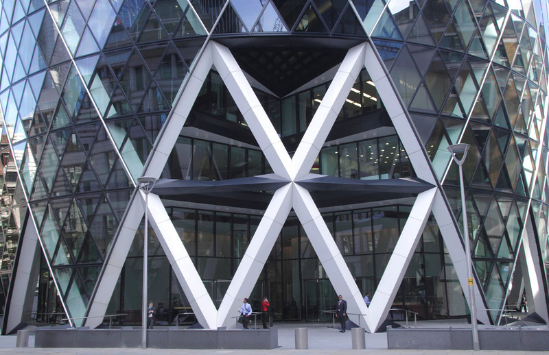 Base of the Swiss Re Tower London