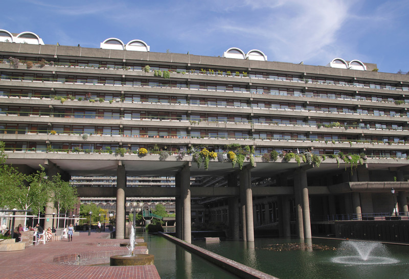 Residential flats at the Barbican London