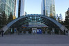 Entrance to Canary Wharf tube station London