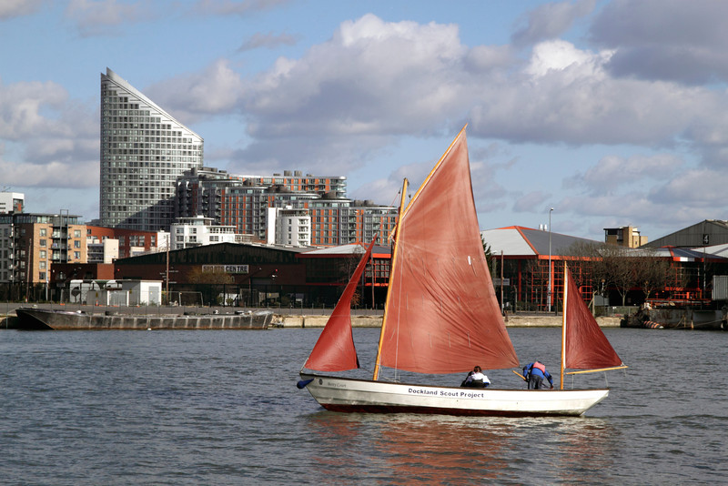 Yachting in Docklands London view from South Quay