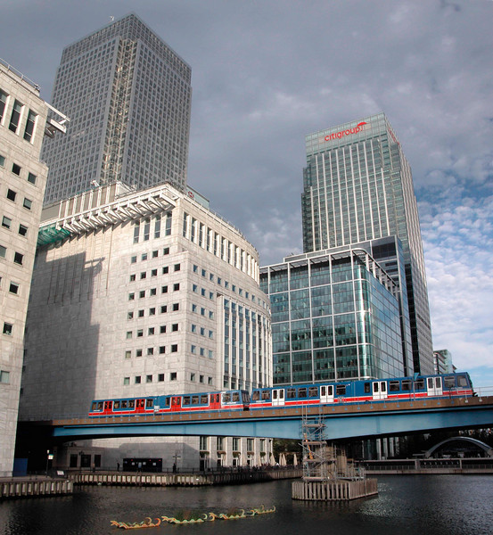 Canary Wharf and Docklands Light Railway London