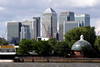 Docklands skyscrapers viewed from Greenwich London