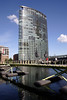 Bridge and Hotel Marriott West India Quay Docklands London