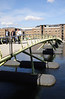 Pedestrian footbridge at West India Quay Docklands London