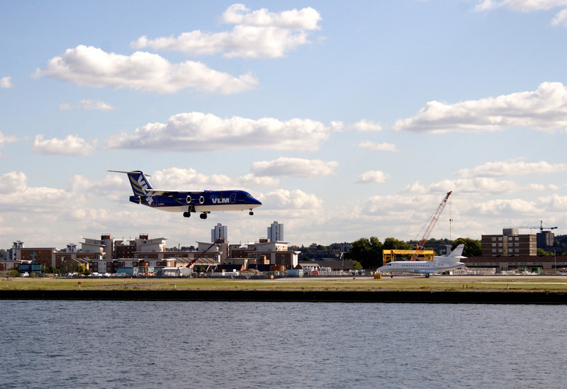 Aircraft Landing at London City Airport