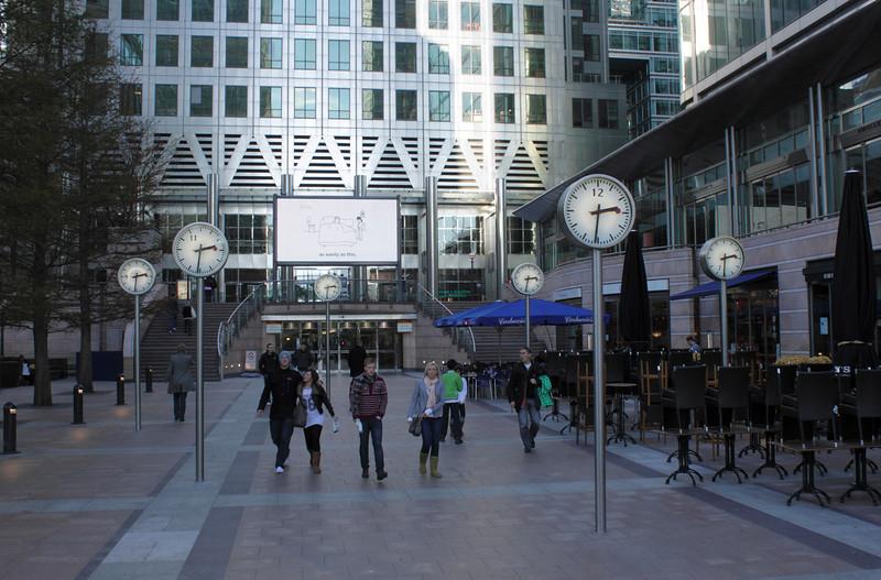 Canada Square Canary Wharf London