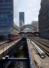 Docklands Light Railway and Canary Wharf Station London