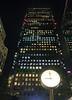 Canada Tower at night London