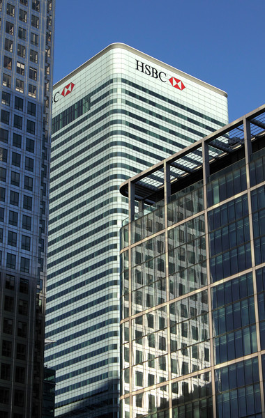 HSBC building Docklands London