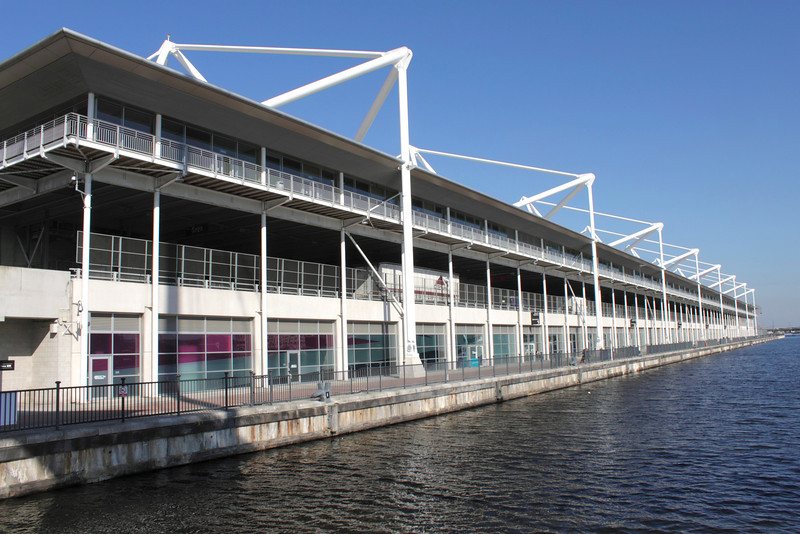 Excel Centre by the Royal Victoria Dock Docklands London
