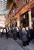 City gents drinking at the Leadenhall Market London