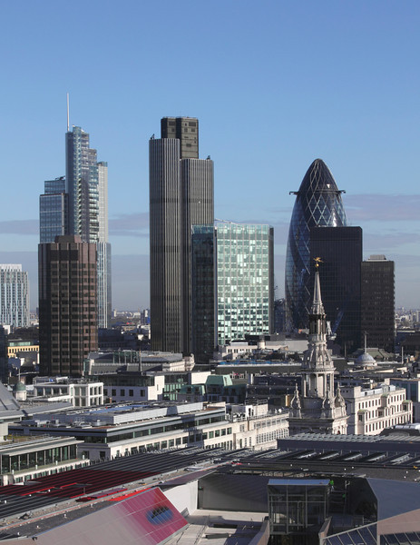 London financial district skyline 2010