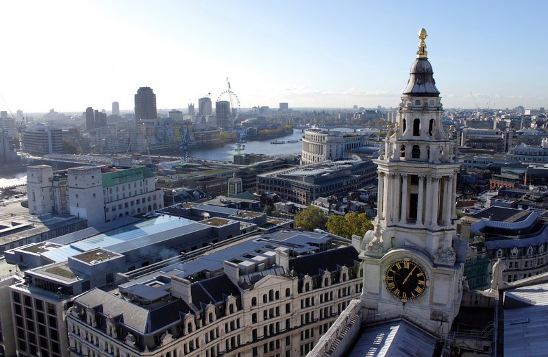 London skyline view from St Paul's Cathedral 2010