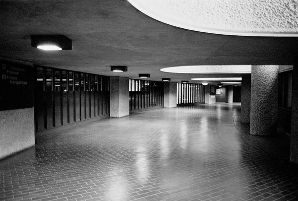 Walkway near Barbican Arts Centre London