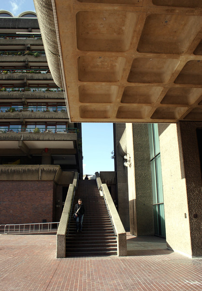 Stairway near Barbican arts centre London