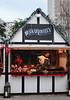 Food stall at Cologne Christmas Market South Bank London December 2009