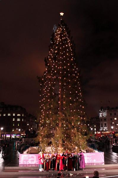 Christmas tree at Trafalgar Square London December 2009