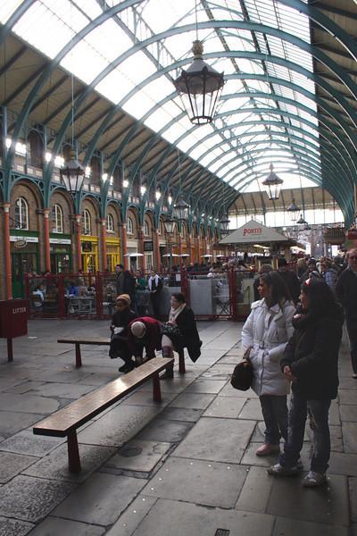 Inside Covent Garden Market London February 2008
