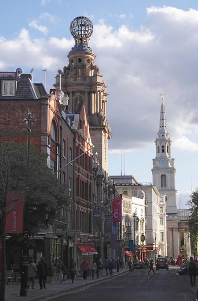 View along St Martins Lane London