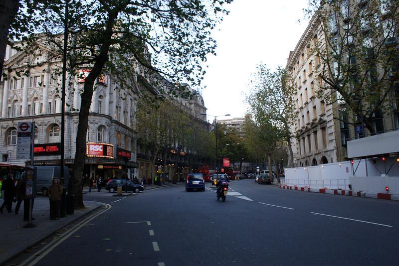 Aldwych street scene Covent Garden London November 2008