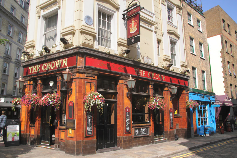 The Crown Pub Monmouth Street Covent Garden London