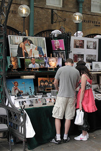 Art Stall at Covent Garden Apple Market London July 2010