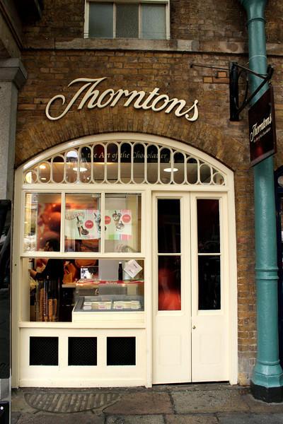 Thorntons chocolate shop inside Covent Garden Market London
