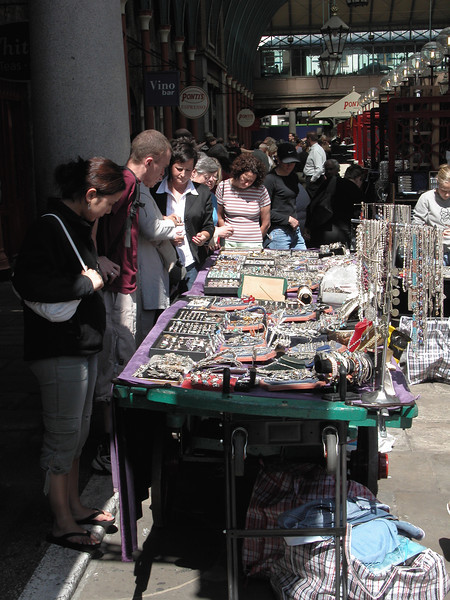 Shopping at Covent Garden Market London