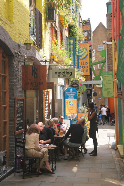 Homeslice Pizza restaurant at Neal's Yard Covent Garden London