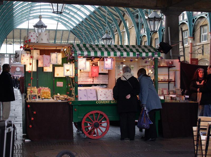 Fairy Lights stall at Covent Garden Market London February 2008