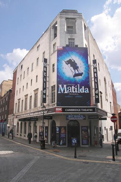 Matilda Musical showing at Cambridge Theatre Seven Dials Covent Garden London August 2013