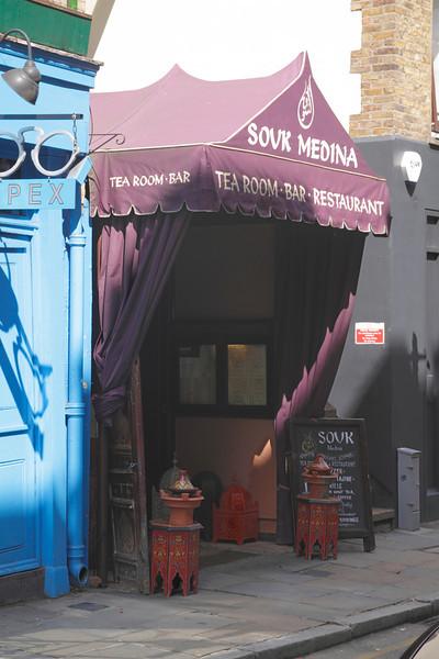 Sour Medina Tea Room bar Restaurant at Short's Gardens Covent Garden London