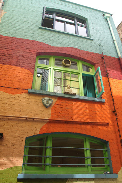 Colourful building at Neal's Yard Covent Garden London