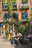 Neal's Yard Covent Garden London Wild Food cafe in background